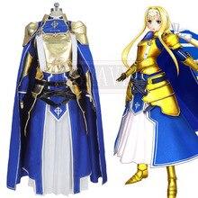 Sword Art онлайн алисизация SAO Alice synthirty Косплей Костюм Хэллоуин Униформа на заказ любой размер
