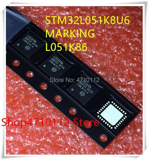 NEW 10PCS LOT STM32L051K8U6 STM32L051 K8U6 MARKING L051K86 QFN 32 IC