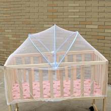 Baby Bed Mosquito Net Mesh Summer Dome Curtain Net Foldable Safe Toddler Crib Cot Canopy Mosquitos Net for Kids Infant Cradle(China)