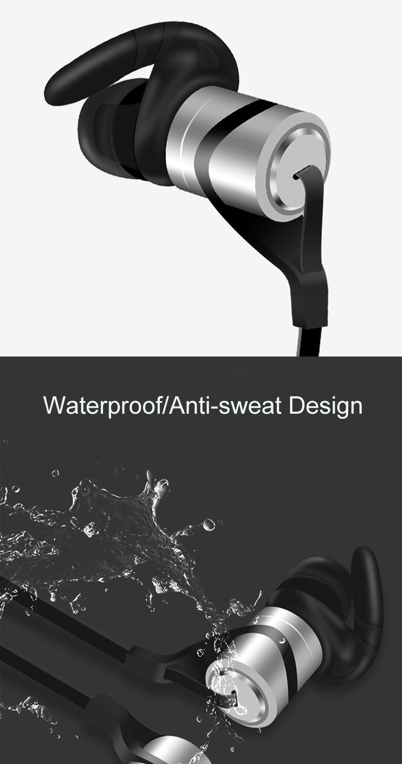 Sports Bluetooth Headphone Wireless Bluetooth Earphone With Mic Metal Noise Cancelling Headset For iPhone Android Phone