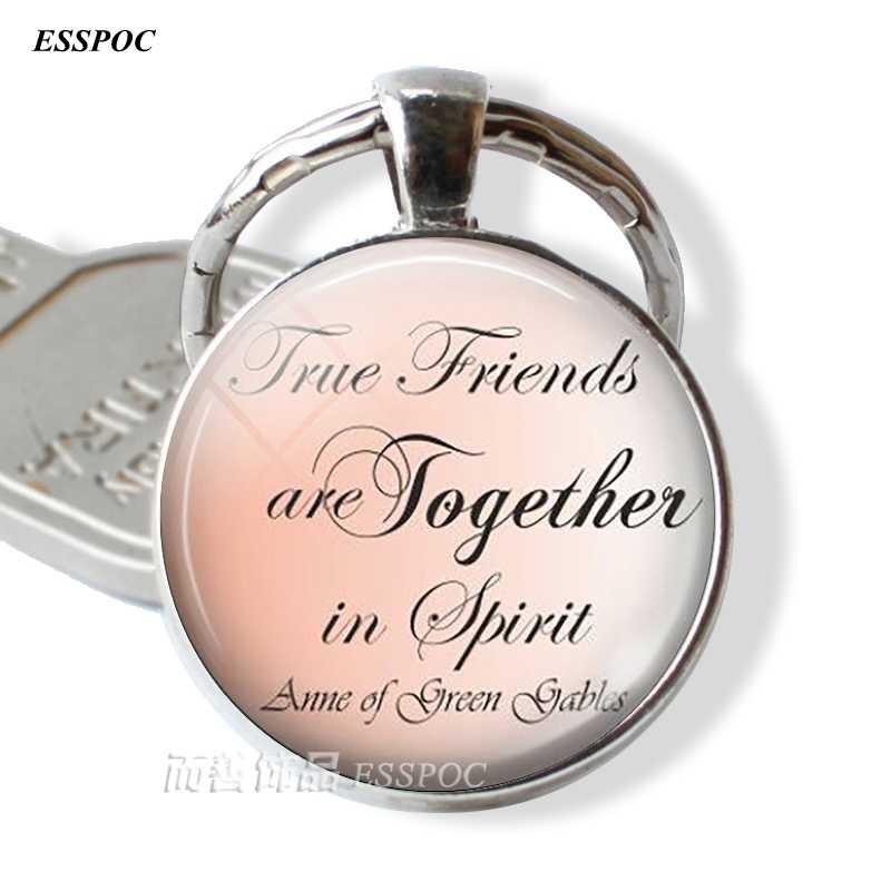 """Anne of Green Gables брелок Цитата """"истинные друзья всегда .."""" брелок дружбы, серьги, брелок"""