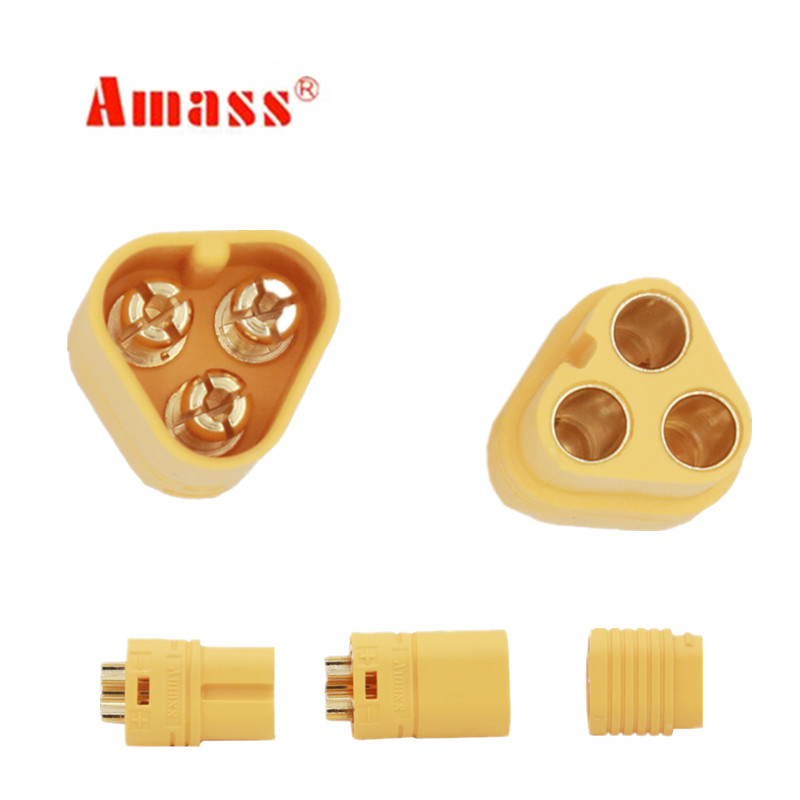 1 Pair AMASS MT60 Motor Plug Connector Set for RC Multicopter Quadcopter Airplane 25% OFF(China)