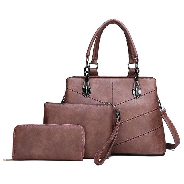 High Quality Three-Piece Composite Bag Ladies Handbag New Fashion Personality Casual Wild Shoulder Messenger Bag