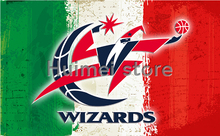 Washington Wizards Flag 3×5 FT 150X90CM Banner 100D Polyester NBA flag