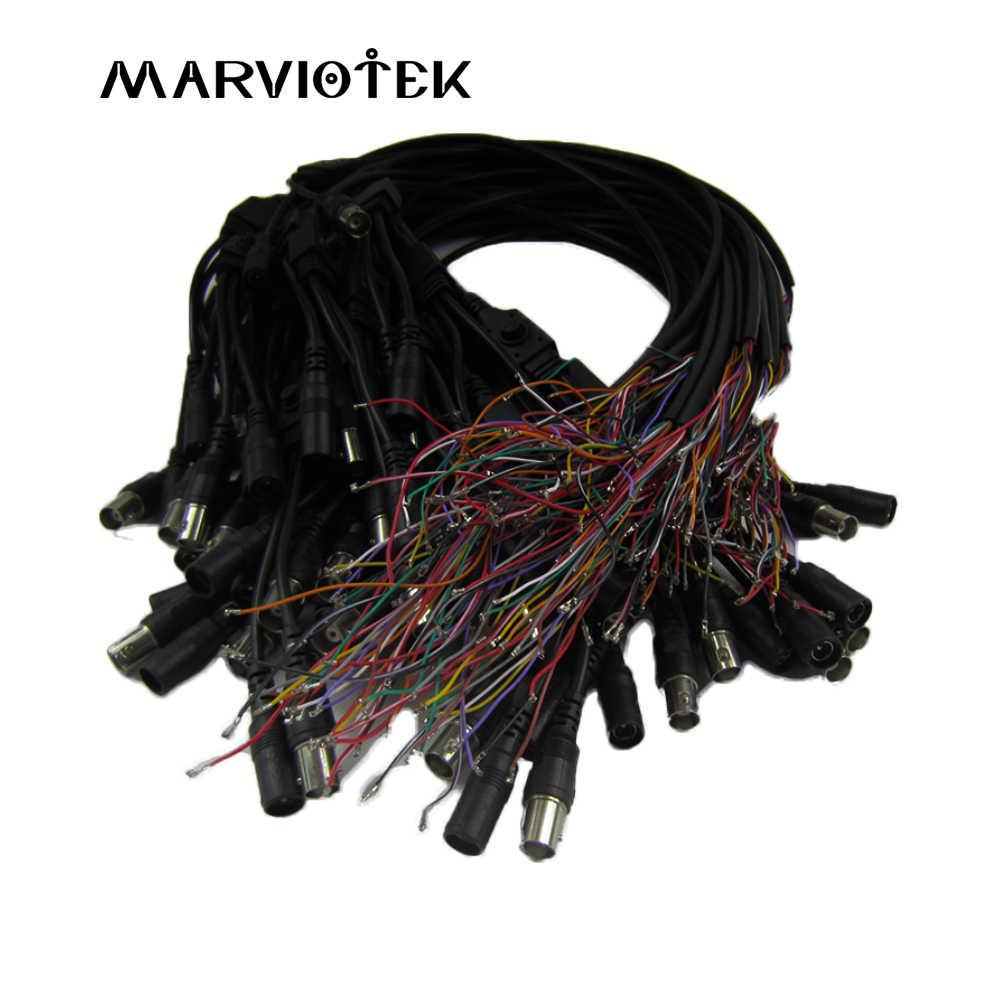 Akcesoria do aparatu cctv wydajność wideo kabel obsługuje port osd i dc 12v bnc 75 ohm, podłącz moduł analogowy/cvi/ahd/tvi