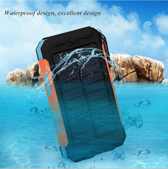LiitoKala Lii D007 Portable Solar Power Bank 20000mah For Xiaomi 2 Iphone External Battery Powerbank Waterproof Dual USB