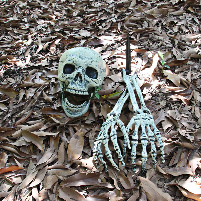 New Esqueleto halloween Skeleton Decoration Halloween Horror Buried Alive Skeleton Skull Garden Yard Lawn Decoration for Party 1