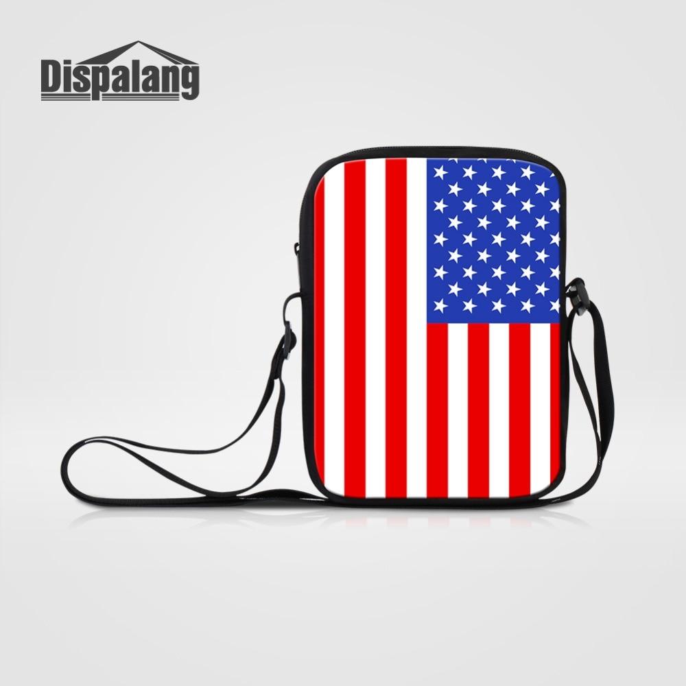 Dispalang Messenger-Bag Flag Prints-Shoulder-Bag Crossbody-Bag Small Fashion Brand 1pcs