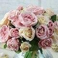 1 Букет 9 Голов bruidsboeket свадебные цветы Искусственный Пион Шелковый Цветок свадебный букет Свадебный Home Decor партия decoración