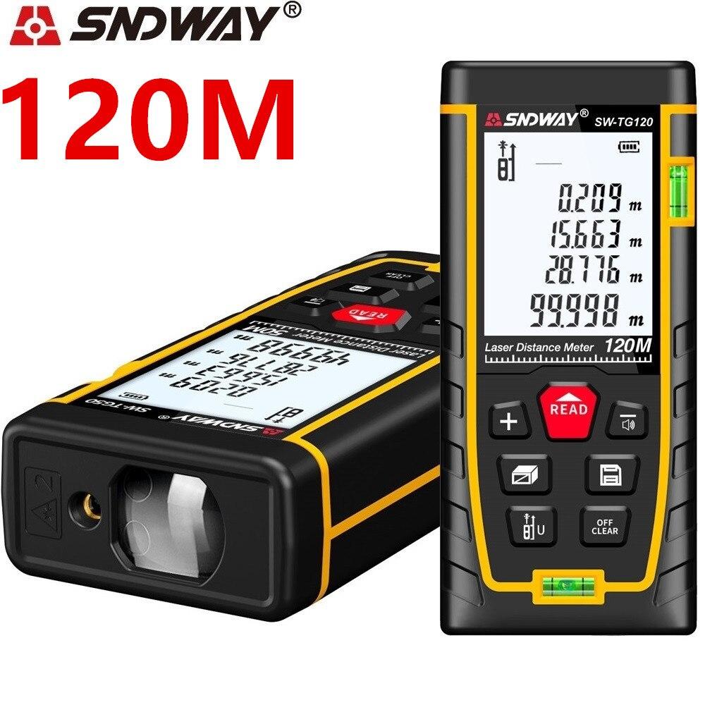 Compteur de distance laser SNDWAY télémètre Laser 40M 50M 70M 120M télémètre laser ruban Roulette