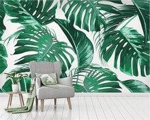 beibehang Custom 3D Mural Wallpaper fashion Tropical plant leaf rainforest Modern home background wall 3d wallpaper papier peint