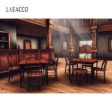 Laeacco antiguo Vintage vino Bar West Cowboy Mesa casa Interior telón de fondo de fotografía para estudio fotográfico