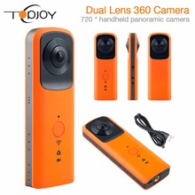 TOPJOY G601 Новый 720 Действий Камеры с Двумя Объективами WiFi 3008*1504 VR Спорт Камеры HD Панорама Камеры автоспуска Доля Facebook