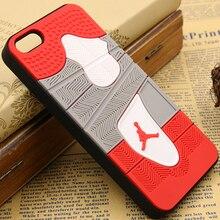 Phone Cases For Iphone 5S SE 3D Jordan Rubber & PVC Sneaker Soles Sport Jupman Phone Case Cover For Apple iPhone 5S SE