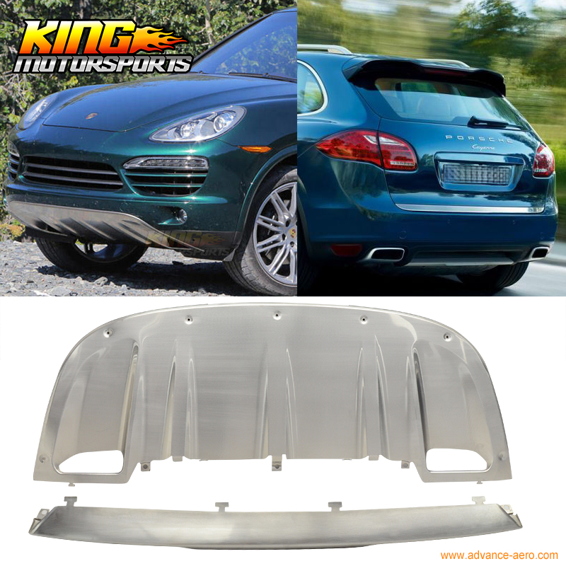 For 2011-2016 Porsche Cayenne OE Front Rear Skid Plate Bumper Diffuser Covers Protector USA Domestic Free Shipping Hot Selling