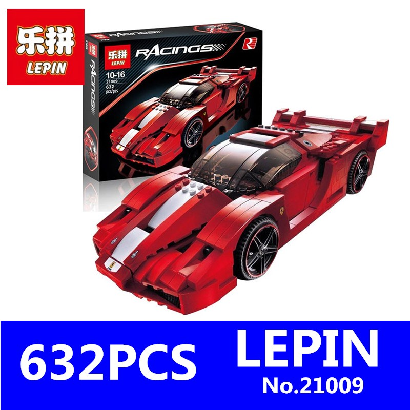 Creative Series LEPIN 21009 632Pcs The Out of Print FXX 1:17 Racing Car F1 Car Technic Building Blocks Bricks Children Toys hot racing italy horse logo fxx k