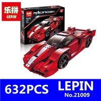 Genuine Creative Series LEPIN 21009 632Pcs The Out Of Print FXX 1 17 Racing Car F1