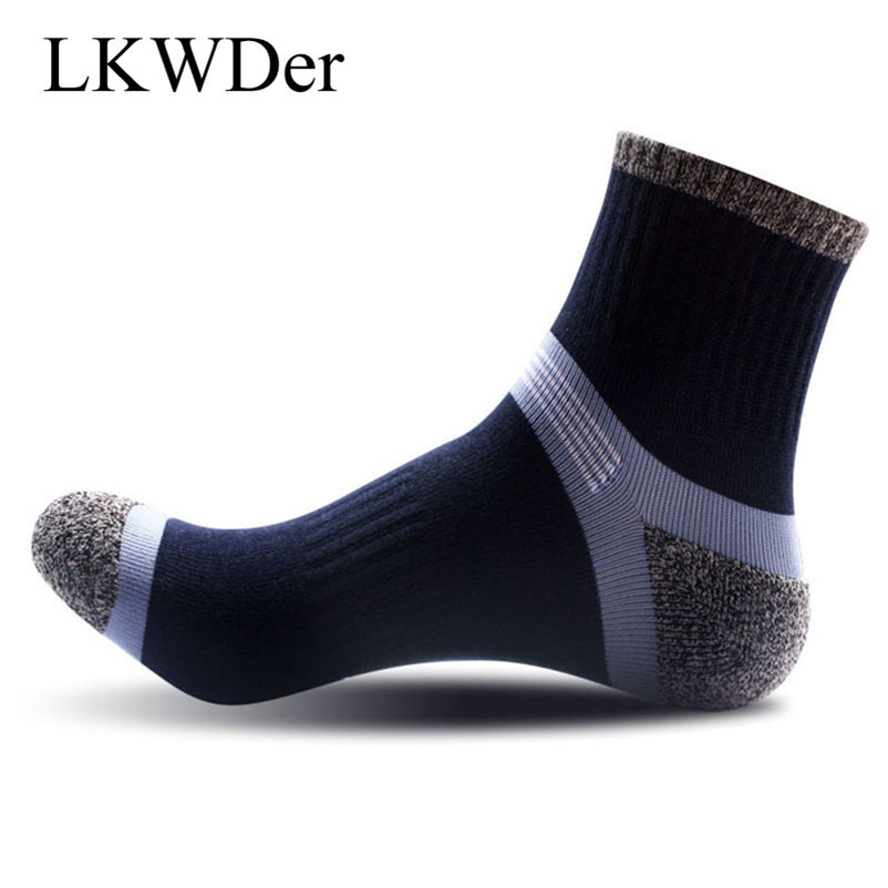 LKWDer 3 Pairs/lot Cotton Men Socks Compression Breathable Socks Boy Contrast Color Standard Meias Good Quality Sheer Work Socks