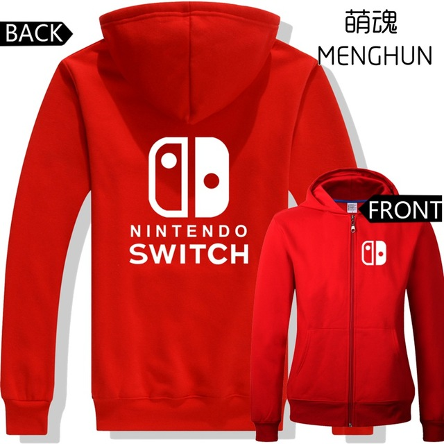 2017Autumn/winter hoodies NEW hot game console Switch hoodies various colors switch fans hoodies game hoodies SWITH shirts ac375