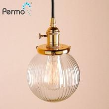 """Permo, современный 5,"""" прозрачный глобус, стеклянные подвесные потолочные лампы, подвесные светильники, E27, подвесной светильник, светильник для гостиной, лофт, светильник"""
