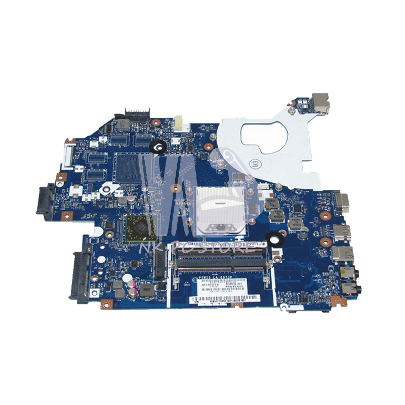 NOKOTION MBWY102001 MB.WY102.001 For Gateway NV55 NV55S Laptop Motherboard P5WS5 LA-6973P Socket fs1 DDR3 Full tested new new for gateway nv55 nv57 nv75 nv77 5830t laptop keyboard