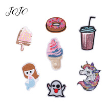 JOJO BOWS Sparkly Sequin Patches Unicorn Mermaid Elf Accessories For Needlework DIY Hair Bows Garment Sewing Wedding Decorations
