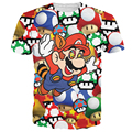 Women/Men Cartoon 3D Fashion Super Mario on Shrooms T-Shirt tee psychedelic drug chew the magic mushrooms T Shirts 3d Tees shirt
