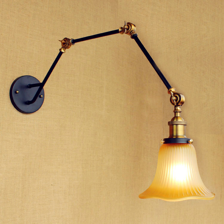 LED Wall Sconce Retro Vintage Wall Light Adjustable Swing Long Arm Wall Lamp Aplique Murale Luminaire Industrial Lighting glass adjustable swing long arm wall light vintage wall lamp retro edison industrial wall sconce arandela aplique murale led