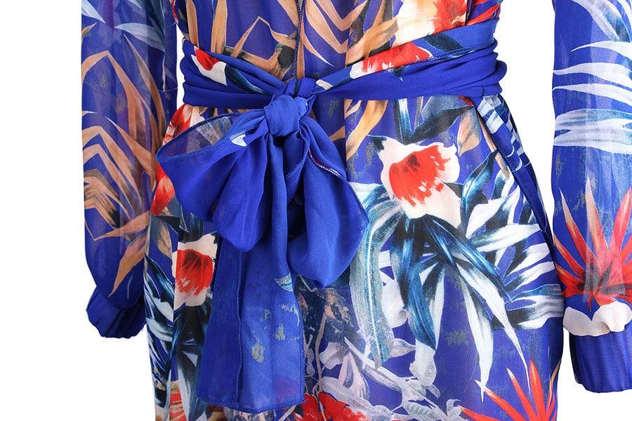 Discounted Sommerkleid Frauen Blumenstrandkleid Blume Langes Kleid - Damenbekleidung - Foto 5