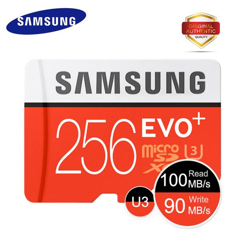 SAMSUNG Memory Card 256GB EVO U3 Micro SD card EVO Plus Class10 TF Card C10 100MB
