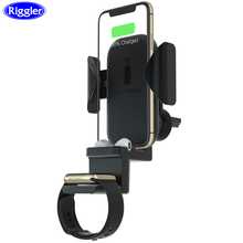 3 in 1 Car Wireless Charge Mount for Samsung S9 Note9 Iphone XS XR X 8 Plus Apple Watch Airpods Charger 10W Fast Holder