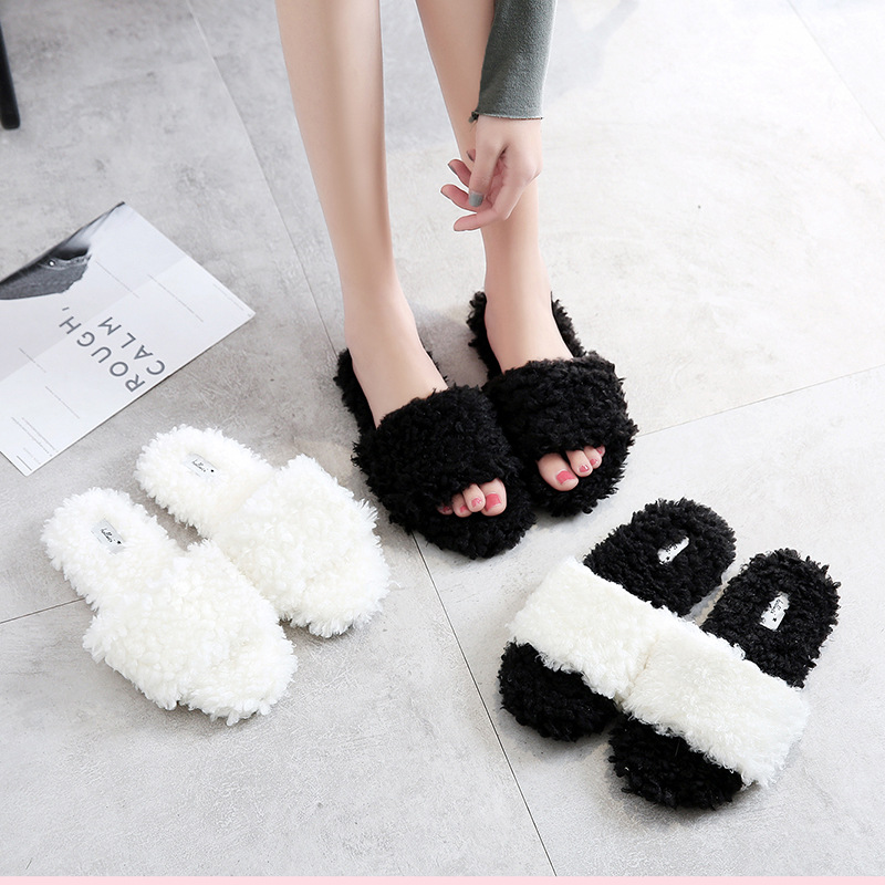 Cute Ball Winter Shoes Woman Home Slippers Women For Indoor Bedroom House Soft Bottom Warm Adult Guests Flats cute bowtie warm winter women home slippers for indoor bedroom house soft bottom shoes adult gusets flats christmas gift