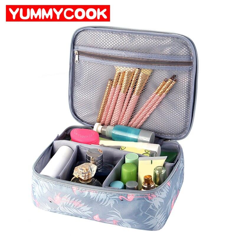 Flamingos Travel Cosmetic Storage Bag Women s Toiletry Wash Pouch font b Makeup b font Case