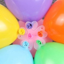 Flower Shaped Balloons Decoration Accessories Plum Clip Practical Birthday Wedding Party Plastic Balloon