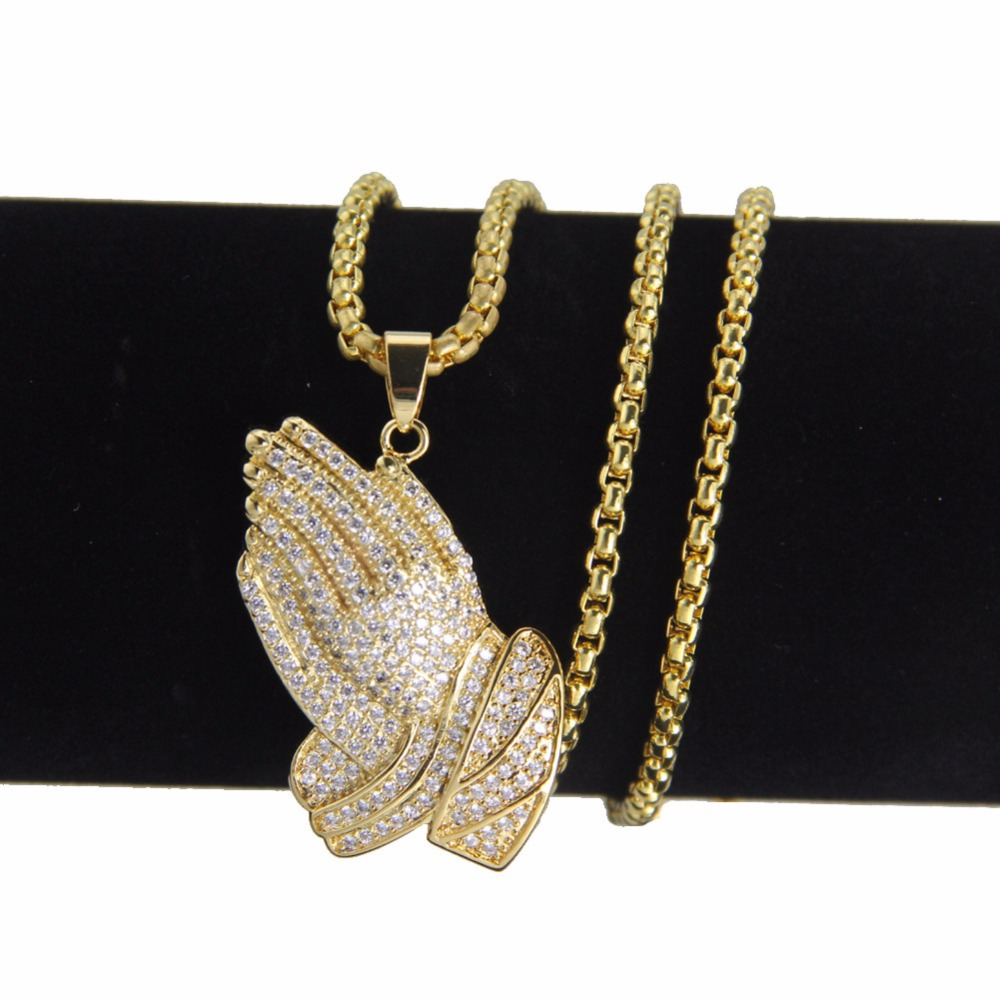 Hip Hop Micro Pave Full Rhinestone Stainless Steel Iced