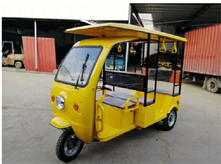 Solar Panel Can Optional 3 Wheels Electric Tuk Tuks With Veinding Machine For Sale