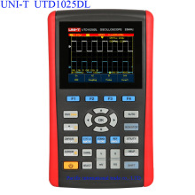 Big discount UNI-T UTD1025DL Handheld Digital Storage Oscilloscopes 3.5″LCD Digital display Fully Auto Scale Oscilloscopes With  multimeter