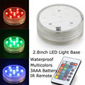 Assorted Colors 10SMDs Waterproof Led Vase Light Base RC Decor Submersible Wedding Party Floral Lights With Remote Controller