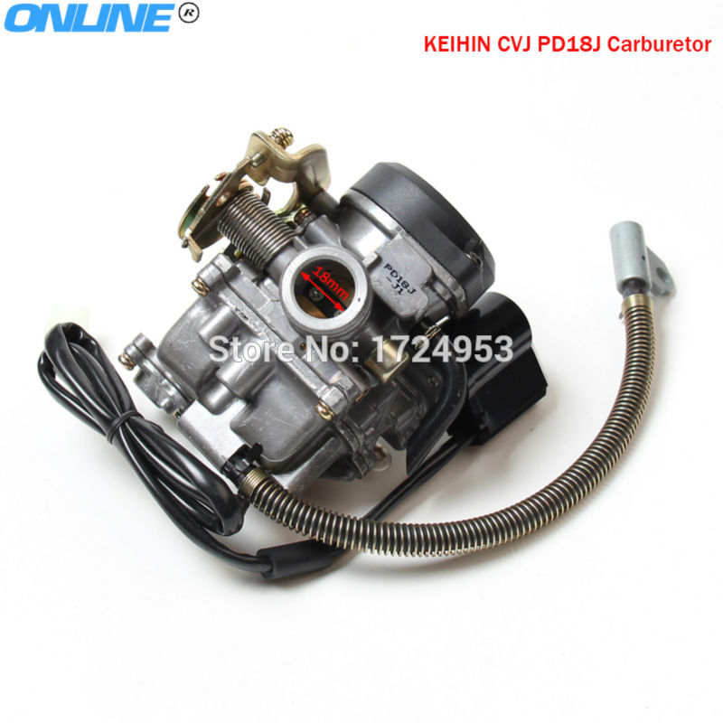 Keihin CVK PD18J 18mm Carburetor Fit Motorcycle GY6 50cc Scooter Moped PD18 Engine 139QMB 139QMA ABM IRBIS BAJA motorcycle scooter carb carburetor 50cc chinese gy6 139qmb moped 49cc 60cc for sunl baja tank nst viva atm redcat engine moped