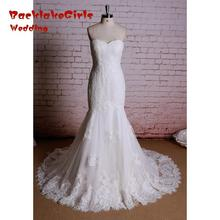 Custom made Wedding Dress 2017 the Newest Bridal Sweet neckline Vestidos full Lace Gowns Mermaid Wedding Dresses Alibaba China