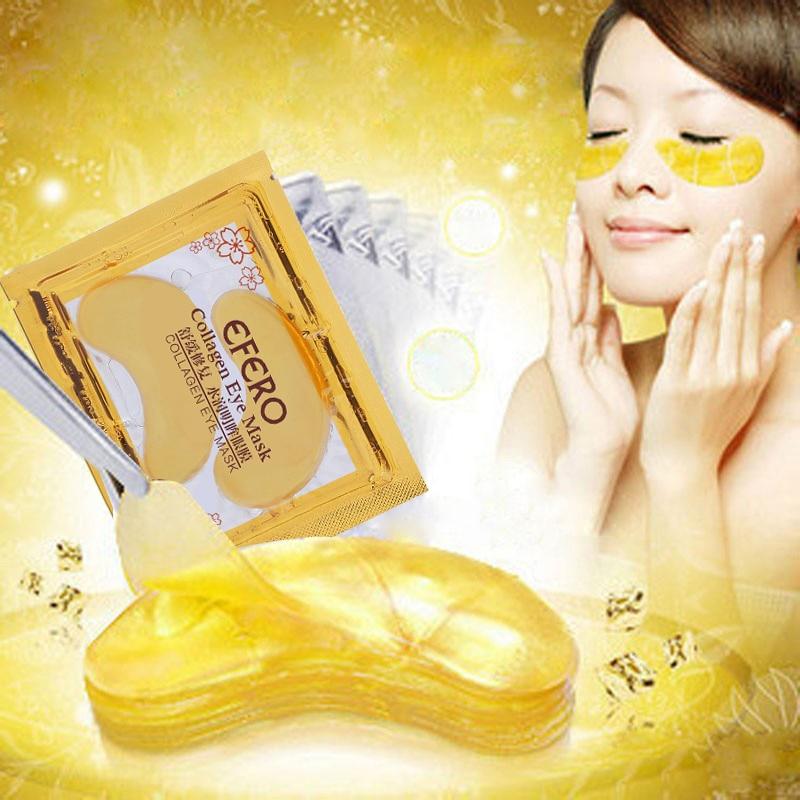 Cheap gold eye mask