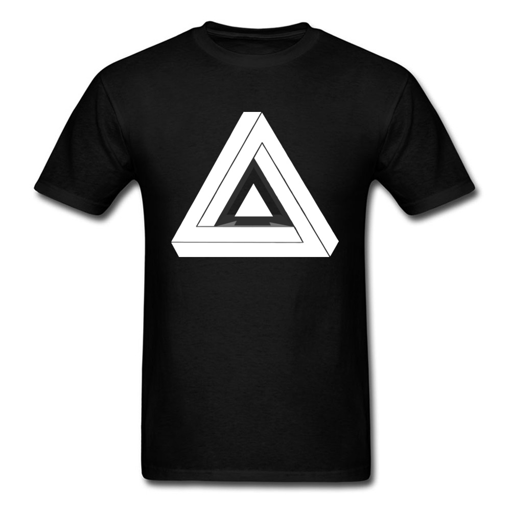 White Penrose Geometry Tshirt Men Sacred Geometry Math Triangle Patterns T Shirt Discount Off 2018 New Fashion Tshirt 3D