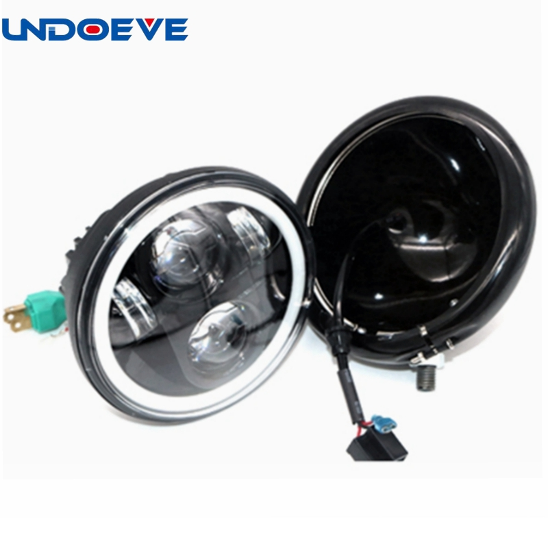 Undoeve H/L Beam 5.75inch LED Headlight for Harley Dyna Low Rider with DRL Headlamp Kits 40W