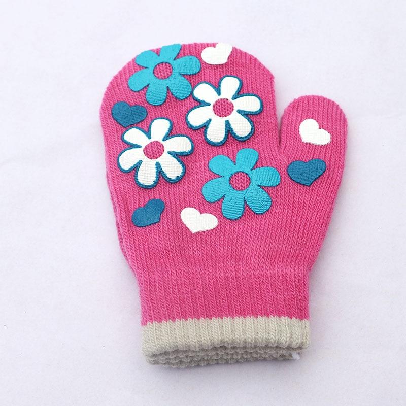 Vinter Varma Handskar Barn Strikte Vanter Barn Solid Girls Boy - Kläder tillbehör - Foto 3