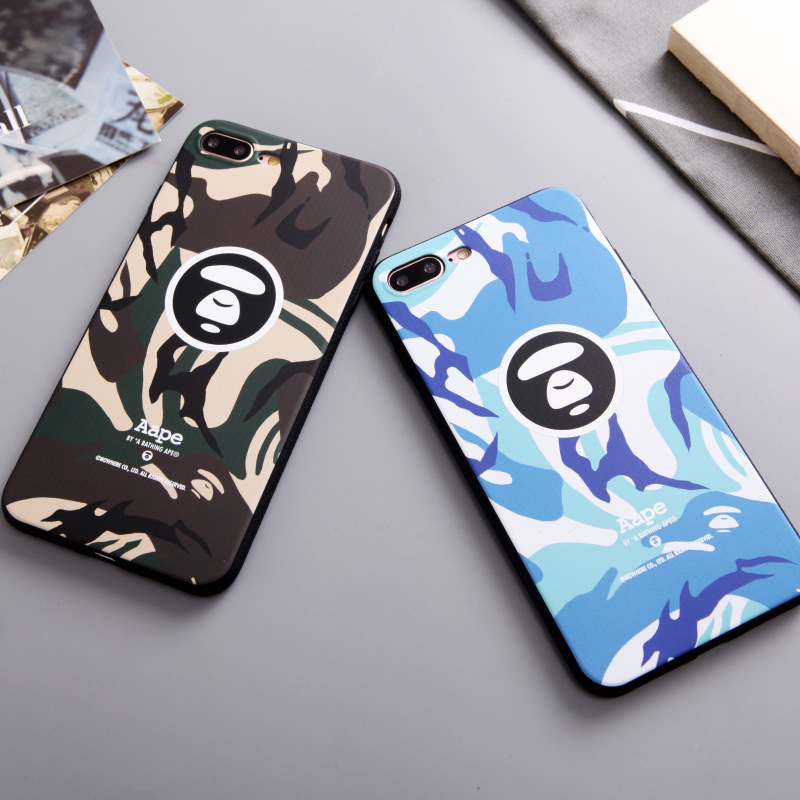 Camo Camouflage Phone Case for iPhone 6 6S 7 8 Plus Matte Silicone Cover for iPhone X Soft Cases Fitted Shell Cartoon Panda Cute