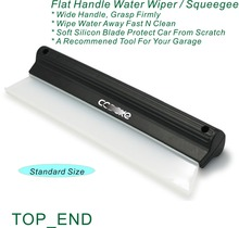 """Free Shipping,1pc, 10"""" Wide Window Washing Squeegee,Designed w/ Felxi Wiper,Black Flat Handle,Ideal For Garage,House,Restaurant"""