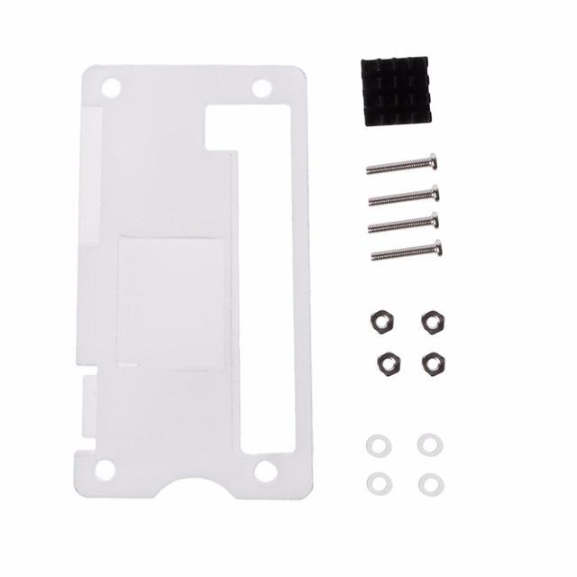 Acrylic Enclosure Case Shell + Aluminum Heat Sink Kit For Raspberry Pi Zero V1.3 Demo Board Accessories C26