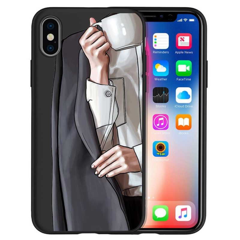 Модный Роскошный чехол для телефона на высоком каблуке с цветочным узором для девочек, чехол для iphone X XS Max XR 6 7 8 Plus 5S SE, мягкий чехол Etui - Цвет: 14