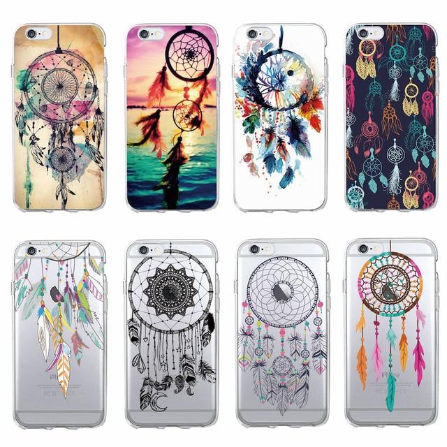 For SAMSUNG iPhone 7 7Plus 6 6S 8 8Plus X XS Max 5 5S Fashion Dream Catcher Boho Tribal Soft TPU Phone Case Cover Coque Fundas