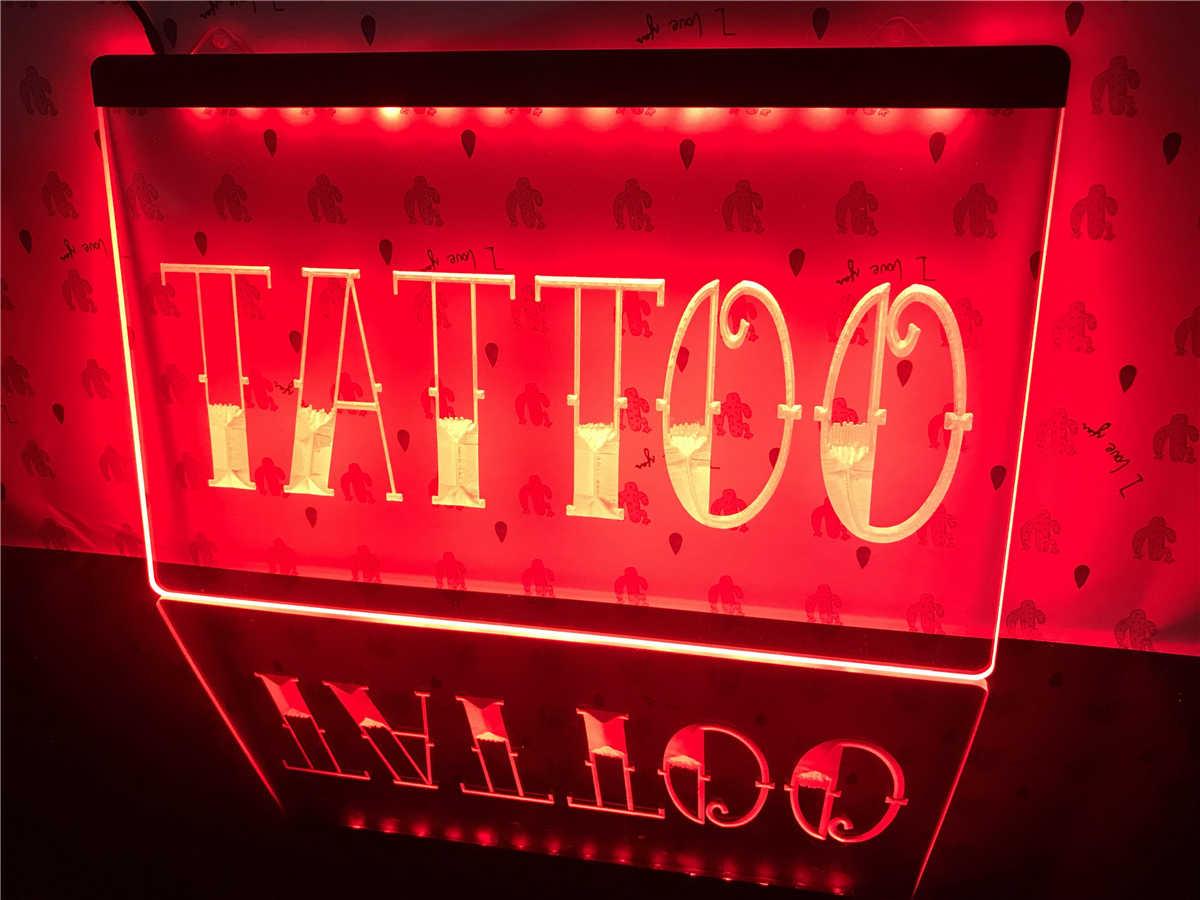i550-r Tattoo Shop Bar Pub Art Piercing Neon Light Sign